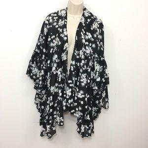 NWT Lane Bryant Open Front floral kimono cardigan
